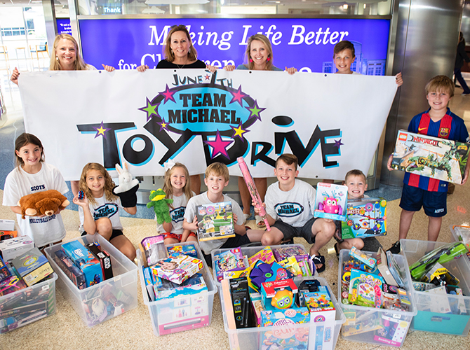 Team Michael Toy Drive 2018