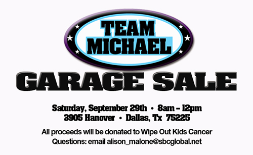 WOKC Team Michael Garage Sale